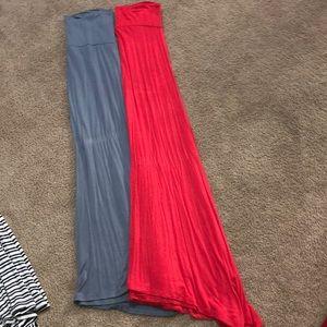 2 Large Maxi skirts